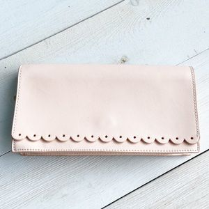 Banana Republic Pale Pink Leather Clutch